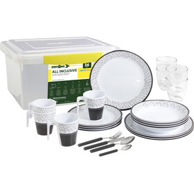 Brunner All Inclusive Dishes Set 36 Pieces, blanco/gris
